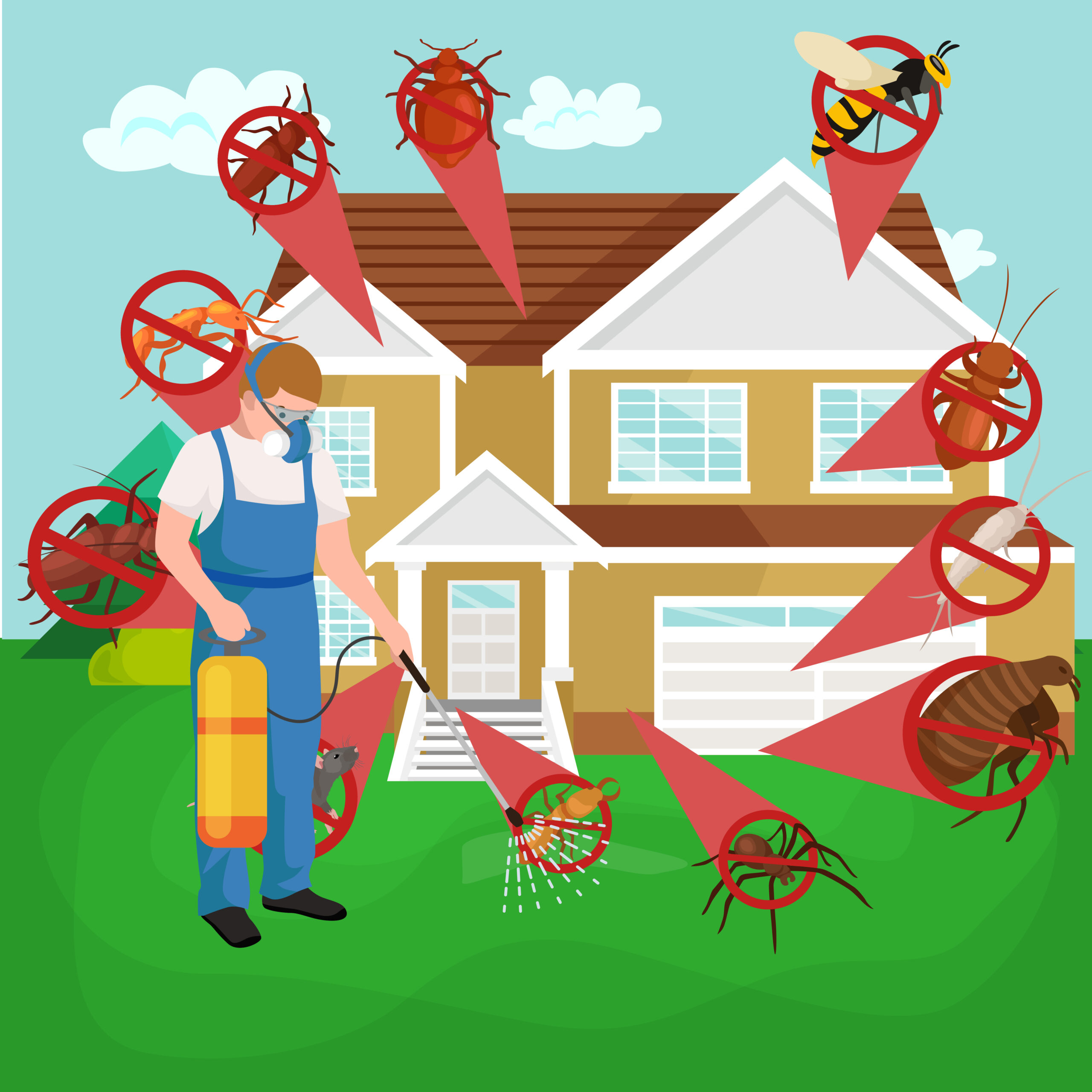 Types of pests we exterminator in Denton county